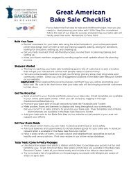 Great American Bake Sale Checklist - Bake Sale for No Kid Hungry ...