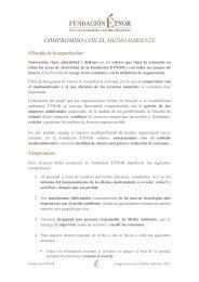 COMPROMISO CON EL MEDIOAMBIENTE - Fundación Étnor