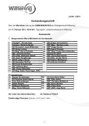 Sitzung vom 17.02.2011 (273 KB) - .PDF - Gemeinde Wilhering