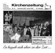 Es begab sich aber zu der Zeit … - Ev. Kirchengemeinde Franz von ...