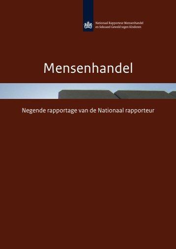 Negende rapportage Nationaal Rapporteur Mensenhandel