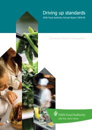 Annual Report 2008-09 - NSW Food Authority - NSW Government