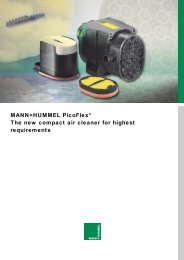MANN+HUMMEL Picoflex® The new compact air cleaner for highest