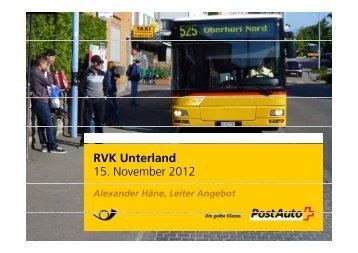 RVK U t l d RVK Unterland 15. November 2012 - Planungsgruppe ...