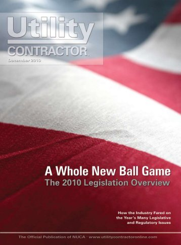 View Full December PDF Issue - Utility Contractor Magazine