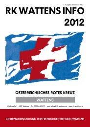 RK WATTENS INFO 2012 - Rotes Kreuz Wattens