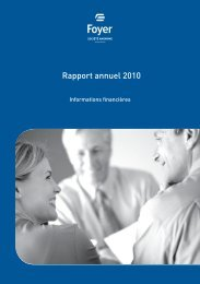 Rapport annuel 2010 - Foyer