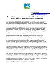 Animal Welfare Approved Introduces the Only Audited Certification ...