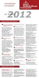 2012 Veranstaltungen und Angebote Juli – Dezember - St. Hedwigs ...