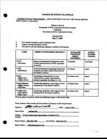 _ NOTICE OF INTENT TO - State Water Resources Control Board