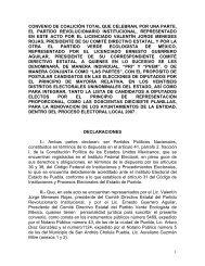 2007 Convenio Coalición Unidos para Ganar - Instituto Electoral del ...