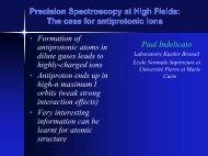 Precision Spectroscopy at High Fields