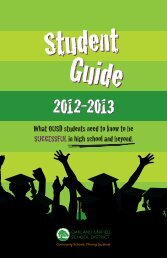 What OUSD students need to know to be SUCCESSFULin high ...