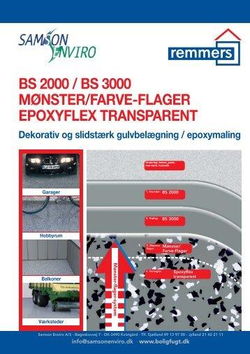 bs 2000 / bs 3000 mønster/farve-flager epoxyflex transparent