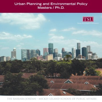 Urban Planning and Environmental Policy Masters / Ph.D.