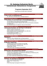 Monatsprogramm September 2012 - St. Hedwigs-Kathedrale Berlin