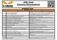 VISIO - Forum Diskussions-/Bühnenprogramm - VISIO-Tirol
