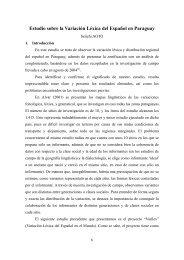 Estudio sobre la Variación Léxica del Español en Paraguay