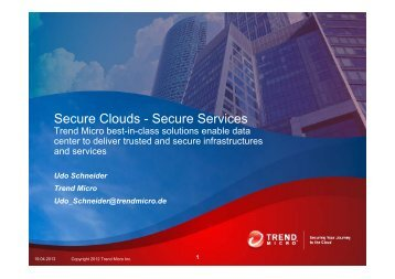Secure Clouds - Secure Services - Trend Micro