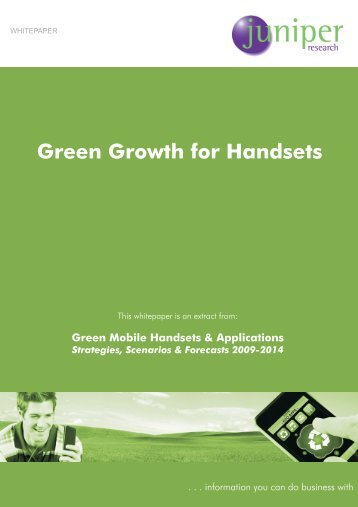 Green Growth for Handsets - Bitpipe