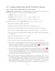 2.9 Complete Partial Orders and the Fixed-Point Theorem