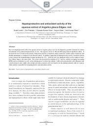Hepatoprotective and antioxidant activity of the aqueous extract of ...