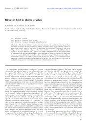 Director field in plastic crystals - Institut für Theoretische Physik I