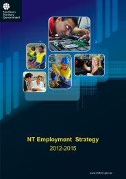 NT Employment Strategy 2012-2015 - Department of Business ...