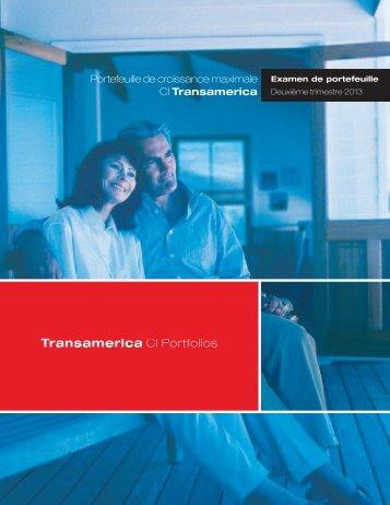 Portefeuille de croissance maximale CI Transamerica - CI Investments