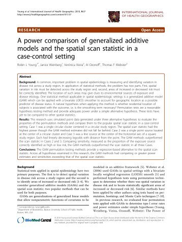 A power comparison of generalized additive models and the spatial ...
