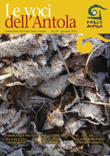 "Le voci dell'Antola"" n.29 gennaio 2012 - Parks.it"
