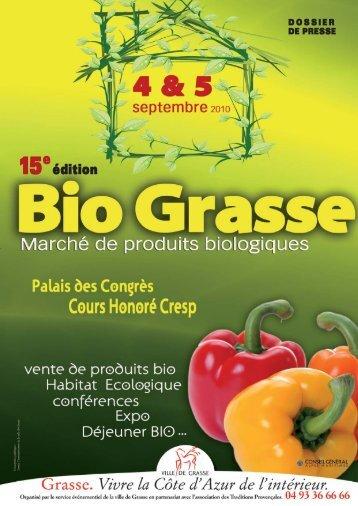 Dossier de Presse 2010 - Grasse