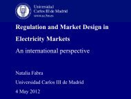 Regulation and Market Design in Electricity Markets - ISEN