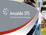 Institutional Presentation 2012 - Ansaldo STS
