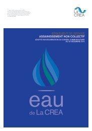Règlement de seRvice assainissement non collectif - La Crea