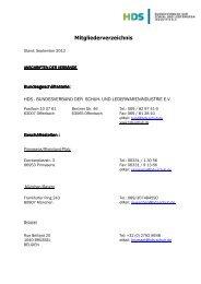 Mitgliederverzeichnis - HDS