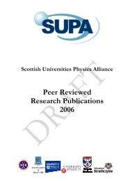 Peer Reviewed Research Publications 2006 - SUPA