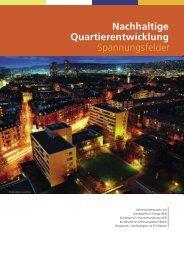 Nachhaltige Quartierentwicklung Spannungsfelder - Novatlantis
