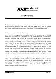 Audio4Smartphones - Wolfson Microelectronics plc