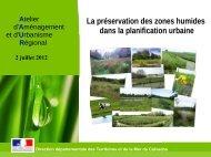 La préservation des zones humides dans les documents d'urbanisme