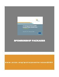 sponsorship packages sponsorship packages - European ...