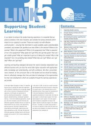 Supporting Student Learning - Higher Education Academy