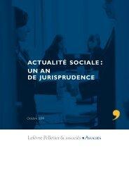 Contrat de travail - Lefèvre Pelletier & associés