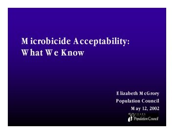 Download as PDF - Global Campaign for Microbicides