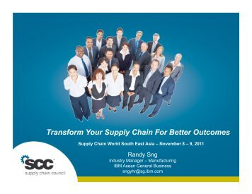 Sng-Transform SC For Better Results_IBM.pdf - Supply Chain Council
