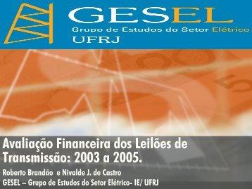 Clique aqui para acessar o artigo da palestra - Nuca - UFRJ