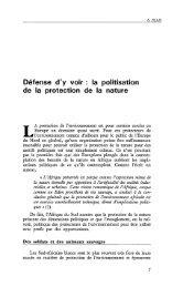 Défense d'y voir : la politisation de la protection ... - Politique Africaine