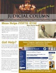 Summer 2006 - Connecticut Judicial Branch - CT.gov