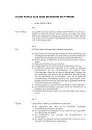 statuts pour le club suisse des bergers des pyrenees - csbp.ch