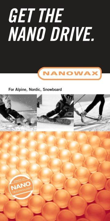 NANOWAX Produktbroschüre - SKI TEAM Thunersee